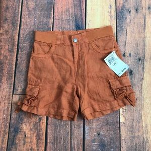 New Girls Lucky Brand Orange Linen Shorts